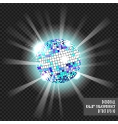 Disco ball Disco background vector image