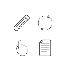 Document file edit and refresh line icons vector