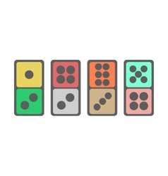 Domino icon vector