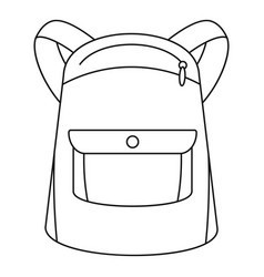 emmo backpack icon outline style vector image