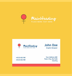 female logo design with business card template vector image