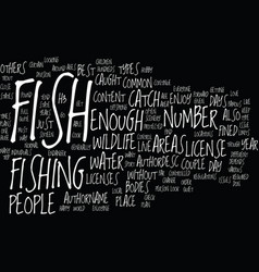 Fish wildlife text background word cloud concept vector