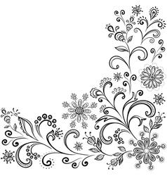 Floral contour background vector image
