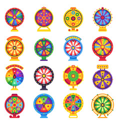 fortune wheel betting wheels lucky spin bankrupt vector image