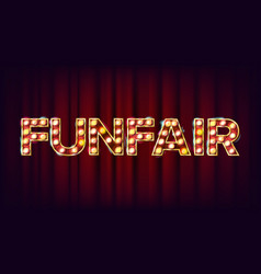 Funfair banner sign for banner poster vector
