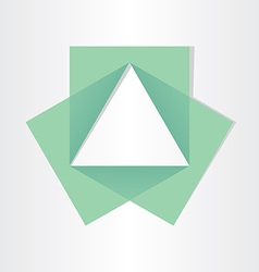 Geometrical triangle with squares math symbol vector