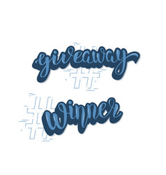 Giveaway and winner vector