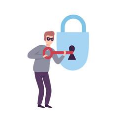 Hacker stealing password cyber internet security vector