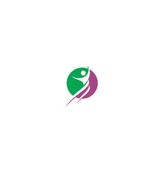 Human health success logo icon vector