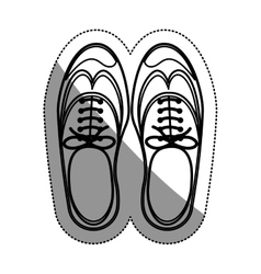 Isolated male shoes design vector