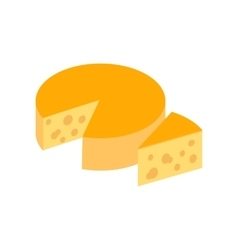 Italian cheese icon isometric 3d style vector