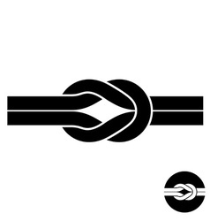 Knot black symbol Two wire with loops logo vector image