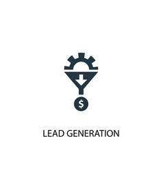 Lead generation icon simple element vector