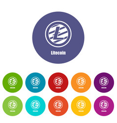 litecoin icon simple style vector image