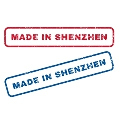 Made In Shenzhen Rubber Stamps vector
