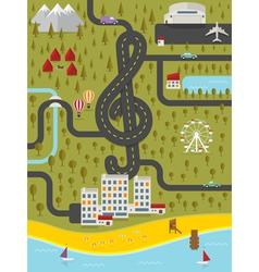 map resort town vector image