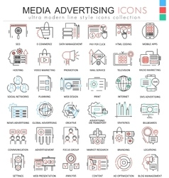Media advertising ultra modern color vector image