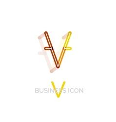 Minimal font or letter logo design vector image