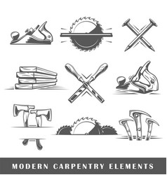 modern carpentry tools vector image