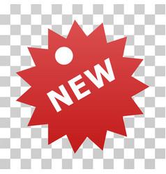 New sticker gradient icon vector