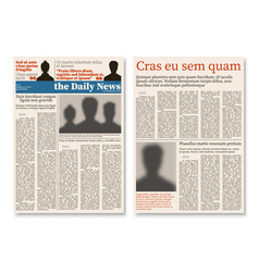 newspaper journal modular construction with vector image