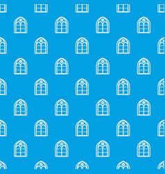 Oriental window frame pattern seamless blue vector