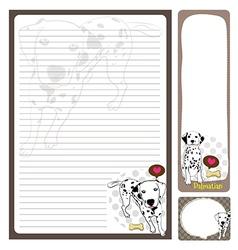 Paper note Dalmatian vector
