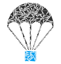Parachute collage of triangles vector