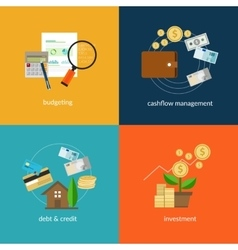 Personal finance icon set vector