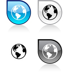 Planet button vector image