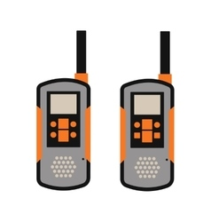 Portable radio transmitter on a white background vector