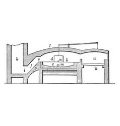 Puddling furnace vintage vector