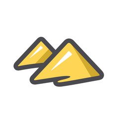 pyramids in desert dunes icon cartoon vector image