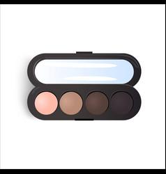 Realistic eyeshadow palette vector