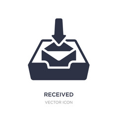 Received icon on white background simple element vector