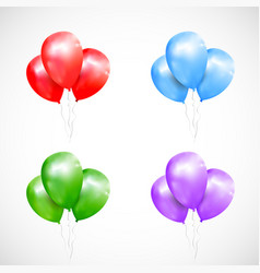 Set of isolated sheaf colored balloons vector