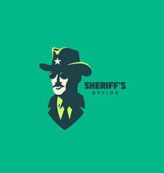 sheriff logo vector image