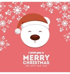 snow bear icon Merry Christmas design vector image