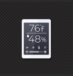 Temperature and humidity monitor vector