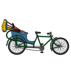 The classic cycle rickshaw vector