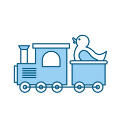 train with rubber duck toy icon vector image