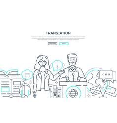 Translation - modern line design style web banner vector