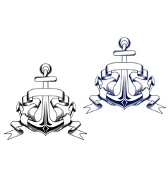 Vintage anchors vector image