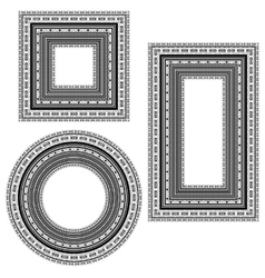 Vintage Frames Isolated vector image