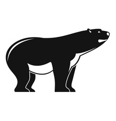 watching polar bear icon simple style vector image