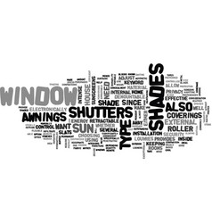 Window shades text word cloud concept vector