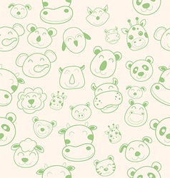 animal head pattern vector image