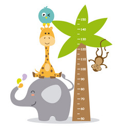 animal wall meter vector image vector image
