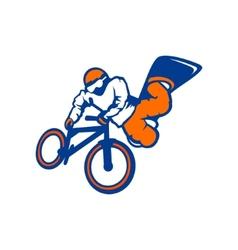 Drive athlete bike snowboard branding sign vector