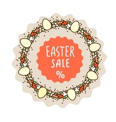 Easter sale sticker template vector image vector image